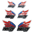 HA004 HARDY フラッグステッカーSET