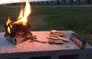 Mini fire stand