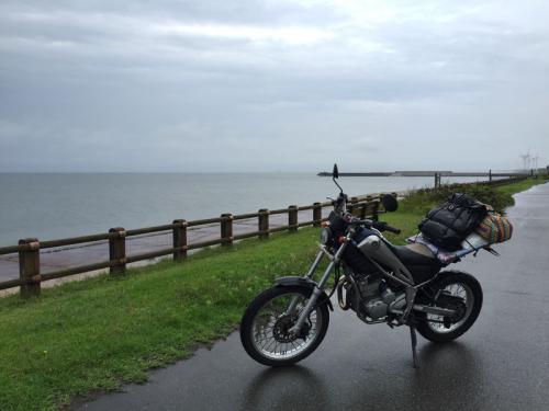 Rainy seaside