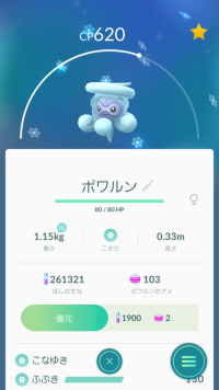 Pokémon GO_ゆきのすがた