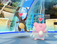 Pokémon GO_ブラックリザードンジムおき