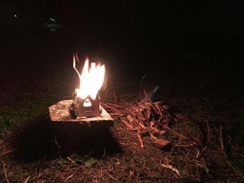 8 ミニマム焚火