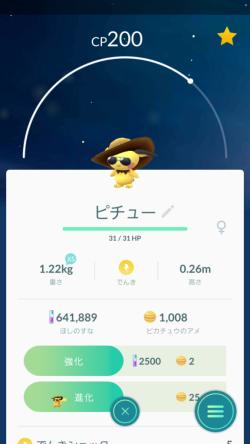Pokémon GO_麦わらグラサンピチュー