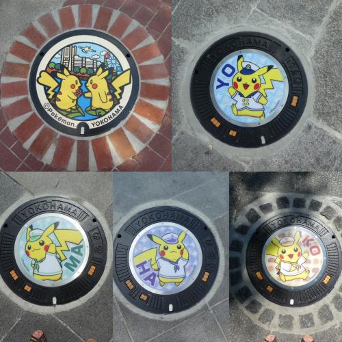ピカチュウマンホール 横浜