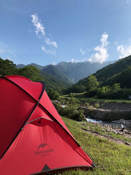 07 16時 テント設営完了