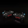 brembo 4ポット キャスティングキャリパー40mmピッチ ブラック レッドロゴ